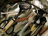 the kitchen drawer that has all the scary utensils in it